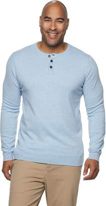 Big & Tall SONOMA Goods for Life Knitted Henley Collar Pullover Sweater