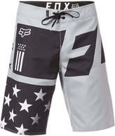 "Fox Men's Red, White and True Logo-Print 21"" Board Shorts"