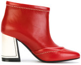 Marni contrasting covered heel booties