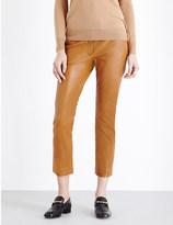 Joseph Finley slim mid-rise leather trousers