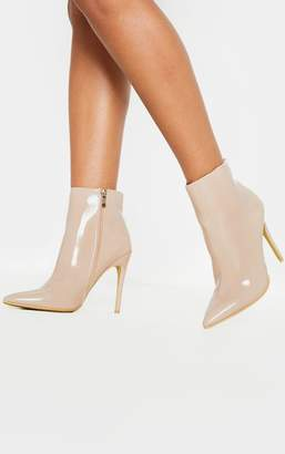 PrettyLittleThing Nude Point Ankle Boot