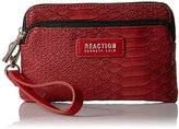 Kenneth Cole Reaction Zip Drive Double Zip Phone Wristlet with Rfid