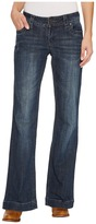 Stetson Plain Back Pocket w/ Blue Embroidery Detail Women's Jeans