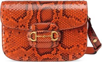 Gucci Horsebit 1955 python small shoulder bag
