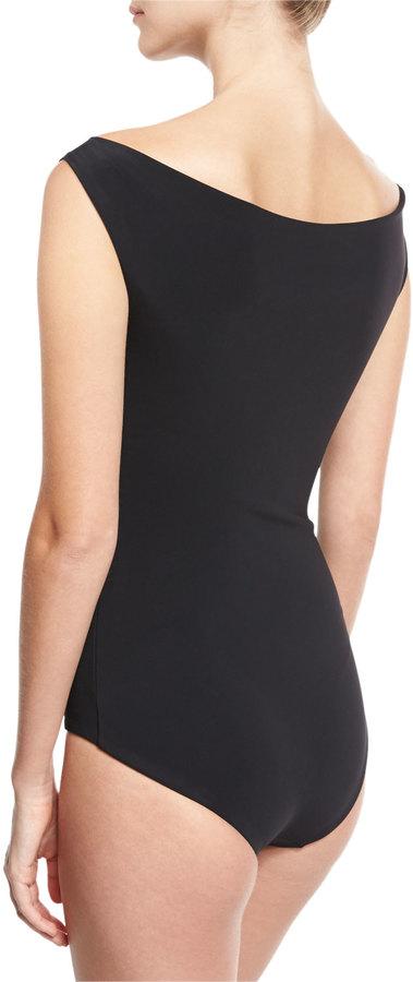 Chiara Boni La Petite Robe Europa Off-the-Shoulder One-Piece Swimsuit