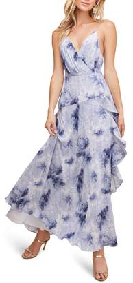 ASTR the Label Floral Ruffle Detail Maxi Dress