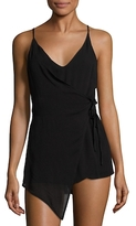 Lucca Couture Faux Wrap Romper