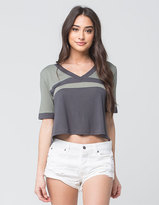 RVCA Crop Womens Football Tee