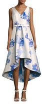 Eliza J Sleeveless V-Neck Hi-Lo Floral Dress