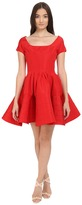 Zac Posen Short Sleeve Boat Neck Fit and Flare Dress Women's Dress