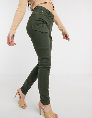 G Star G-Star blossite utility high rise skinny pants in green