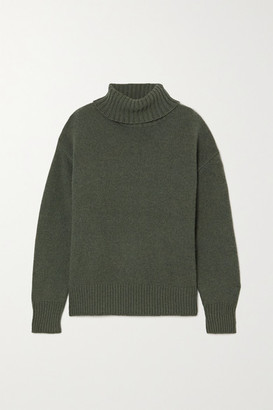 Extreme Cashmere N20 Oversize Xtra Cashmere-blend Turtleneck Sweater - Army green