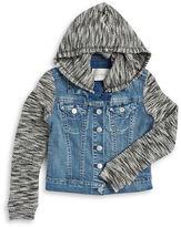 Jessica Simpson Girls 7-16 Hooded Denim Jacket