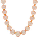 """Honora As Is 14K Gold 12.0mm - 15.0mm Ming Cultured Pearl 24"""" Necklace"""