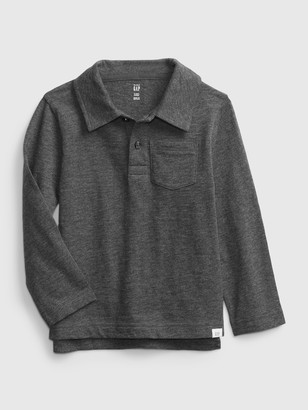 Gap Toddler Long Sleeve Graphic Jersey Polo Shirt Shirt