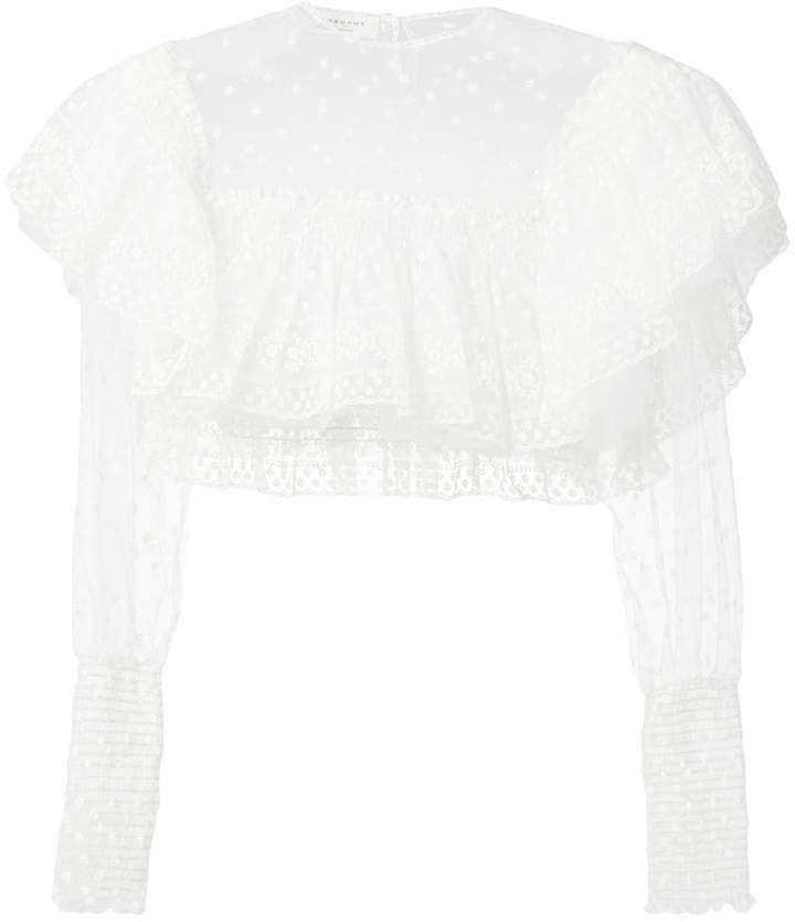 10073ea1dfcd Long Sleeve Lace Crop Top - ShopStyle UK