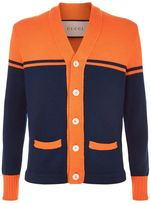 Gucci College Knit Wool Cardigan