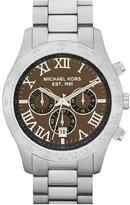 Michael Kors Men's Stainless Steel Quartz Chronograph Black Dial Link Bracelet MK8213