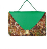 American Apparel Kelly Green Camouflage Leather Envelope Case