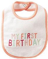 Carter's My First Birthday Bib