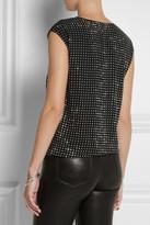 MICHAEL Michael Kors Crystal-embellished georgette top