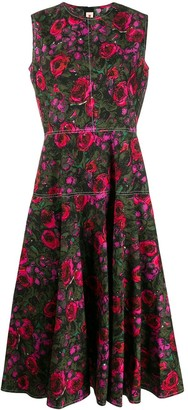 Marni floral-print mid-length dress