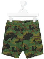 Babe And Tess - camouflage print shorts - kids - Cotton/Sinflex - 5 yrs