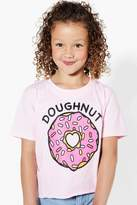 boohoo Girls Doughnut Cropped Tee
