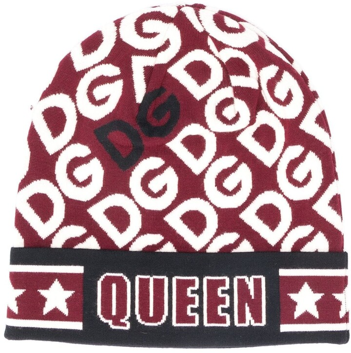 Dolce & Gabbana intarsia knit logo beanie
