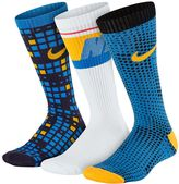 Nike Boys 3-Pack Graphic Crew Socks
