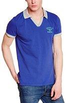 Kaporal Men's Plain or unicolor Short sleeve Polo Shirt Blue Bleu (Strong Blue)