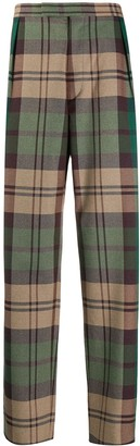 Vivienne Westwood plaid print tailored trousers