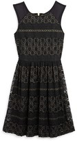Ella Moss Girls' Metallic Multi Lace Dress - Big Kid