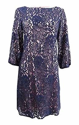 Jessica Howard JessicaHoward Women's Petite Lace Balloon Sleeve Dress