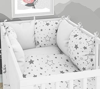Camilla And Marc Pillow Cot Bumper, Six Pillow Velvet Cot Covers 70 x 140 cm