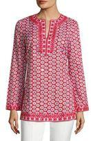 Tory Burch Jayne Embellished Floral-Print Tunic