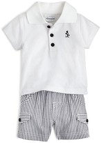 Absorba Infant Boys' Polo Shirt & Seersucker Shorts Set - Sizes 0-24 Months
