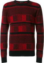 Versace patterned crew neck jumper
