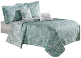 Serenta LA Boheme 5 Piece Printed Bed Spread Set, Teal Turquoise, King
