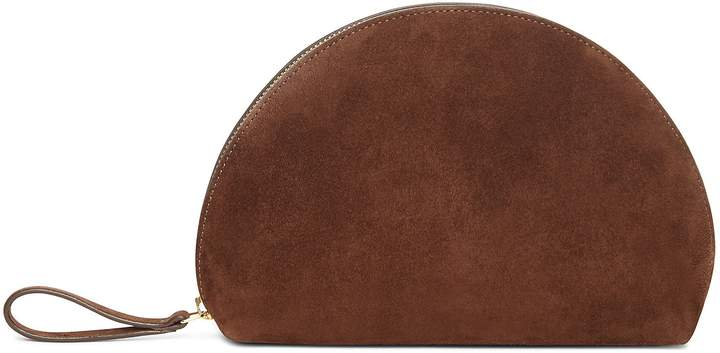 Mansur Gavriel Suede Mini Moon Clutch