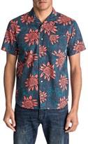 Quiksilver Men's Floral Print Short Sleeve Sport Shirt