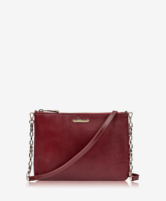 GiGi New York Chelsea Crossbody, Burgundy Croix Grain Leather