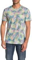 Public Opinion Short Sleeve Palm Leaf Print Pocket T-Shirt
