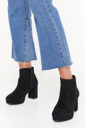 Nasty Gal Womens Suede to Break Your Heart Faux Suede Boots - black - 3