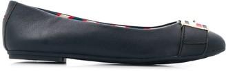 Tommy Hilfiger Strap Detail Ballerina Shoes