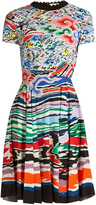 Mary Katrantzou Bixbite rainbow cloud-print dress
