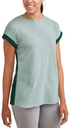 Athletic Works Women's Athleisure Super Soft Short Sleeve Colorblock T-Shirt