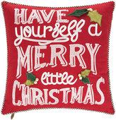 Mackenzie Childs Merry Little Christmas Cushion