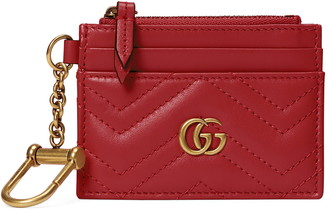 Gucci GG 2.0 Key Chain Matelasse Leather Card Case