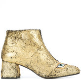 Figue sequin eye motif booties